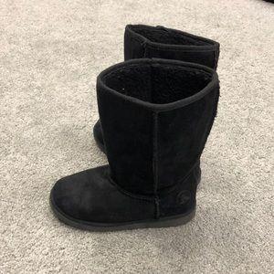 Girls Black Winter Boots Size 2.5